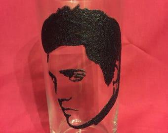 Elvis Glittered Pint Glass