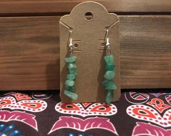 Aventurine Crystal Dangle Earrings