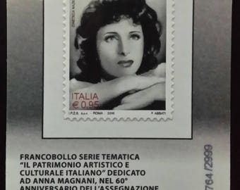 """Anna Magnani"" philatelic card 2016"