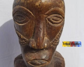 TRIBAL EXOTICS : PREMIUM Authentic fine tribal African Art - Tabwa Batabwa Taabwa Female Ancestor wood Figure Sculpture Statue Mask