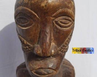 TRIBAL EXOTICS : PREMIUM Authentic fine tribal African Art - Tabwa Batabwa Taabwa Female Ancestor wood Figure Sculpture Statue Mask