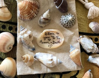 Personalized Handcrafted Seahell Gift Set/Holidays/Oceanic