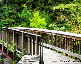 White Mountain Bridge in New Hampshire: 5x7 matted digital image