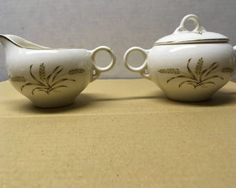 Vintage Sugar Bowl and Creamer