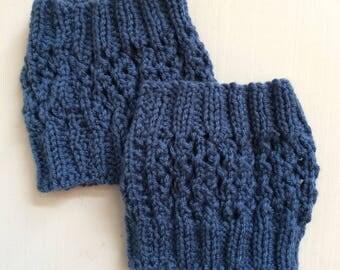 Blue wool cuff