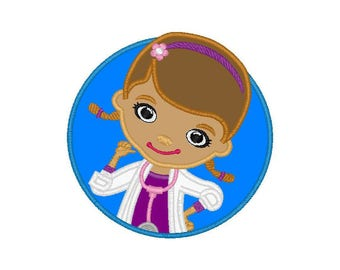 "Doc McStuffins applique machine embroidery design- 3 sizes 4x4"", 5x7"", 6x10"""