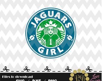 Jaguars Coffee svg,png,dxf,shirt,jersey,football,college,university,decal,proud mom,disney,starbucks,florida,jacksonville,jags,texas,johston