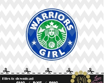Warriors Girl Coffee svg,png,dxf,shirt,jersey,college,university,decal,proud mom,disney,starbucks,city,state,national,school,svg,basketball