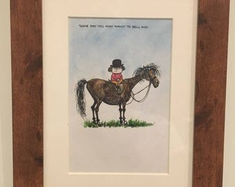 Thelwell hand painted watercolour