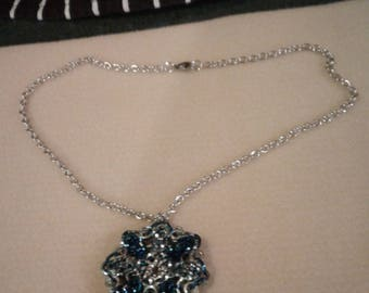 Necklace with snowflake pendant