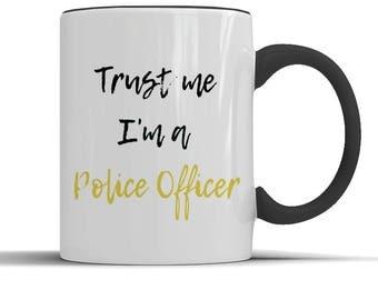 Police officer mug, police officer gift, cop gift, cop mug, coffee mug, cop boyfriend, cop husband, policeman gift, policeman graduate
