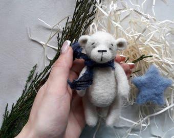 Newborn photo props wool