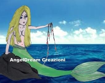 Printable illustration mermaid Fantasy