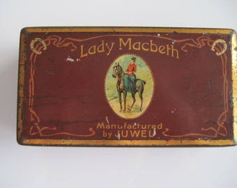 Lady Macbeth cigarette tin (100/empty) by JUWEL (Germany)