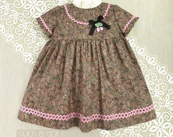 Toddler Girls Dress | Toddler Girl Clothes | Toddler Dress | Baby Girls Clothing |Empire Dress | First Birthday | Paisley and Rick Rack