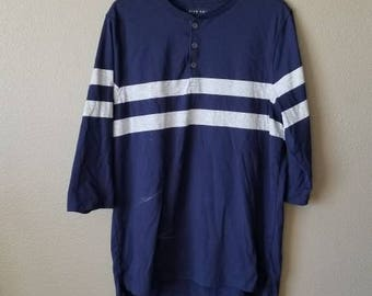 Five Four Striped Henley Shirt.