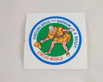 Ringling Brothers Barnam Bailey Circus World Sticker