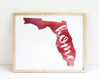 No Place Like Florida / Home State Print