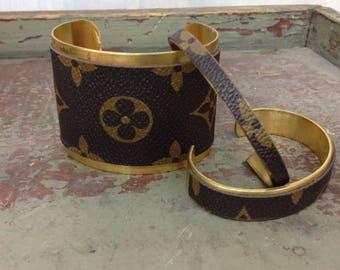 Louis Vuitton vintage brass cuff