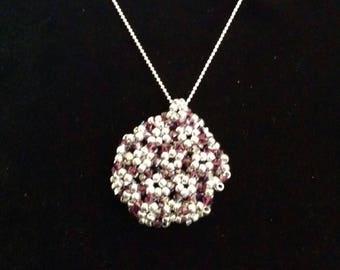 Swarovski Amethyst three-dimensional necklace