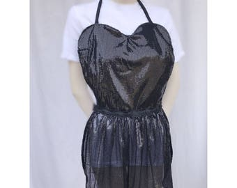Black and lace glamour apron
