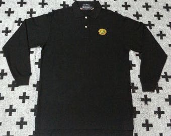 Rare!!! Vintage burberrys long sleeve polo shirts