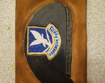 Security Forces Beret in Leather