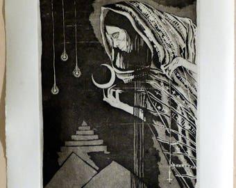 Black Magic, engraving intaglio, aquatint