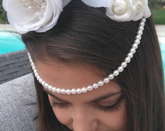 Headband for bride - model Cecilia