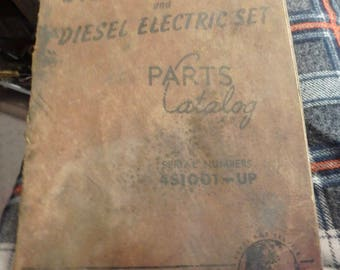 1953 Caterpillar D13000engine and diesel electric set- parts catalog