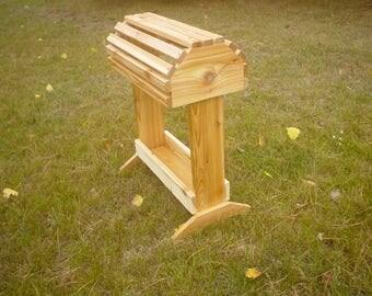 Rustic Wooden Cedar Saddle Rack W/tray
