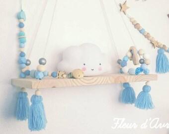 Sky blue hanging shelf
