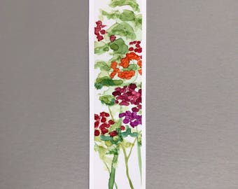 Bookmark Hand Painted Alcohol Ink Floral