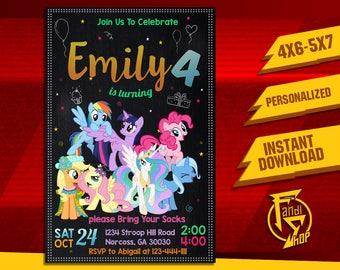 My Little Pony Invitation,My Little Pony Birthday Invitation,My Little Pony  Party,My Little Pony,Pony Invitation,Pony Birthday,Pony FF