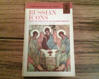 Russian Icons 12th to 15th Century Art Book First Printing 1962 History of Russian Painting Mentor-Unesco Art Book