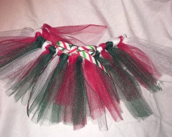 Red and Green Tulle Tutu