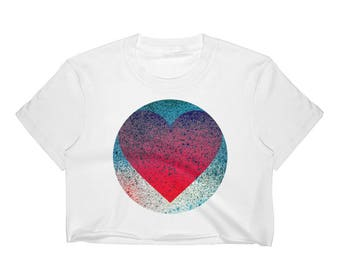 "YouJustKnow Women's Crop Top ""Heart"""