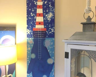 """Yago Salina-Reproduction on canvas """"island spiral the energy of time..""""-Dimensions: cm 40x160"""