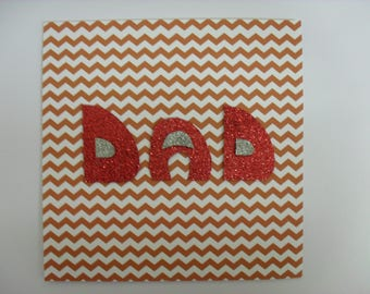Handmade card, Dad, Birthday, Fathers Day, thank you, zig zag, papercraft, special occasion, gift, glitz, sparkle, best dad, hero
