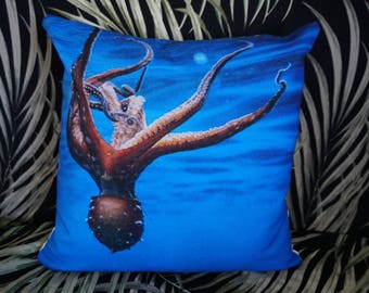 Upside Down Octo 18x18 inch Throw Pillow