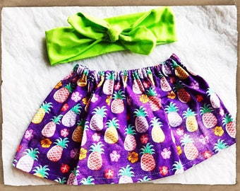 Free Shipping to US and PR,Pineapple Skirt,Pineapple Inspired,red,Pineapple outfit, skirt,Princess outfit,Baby Princess,Girl,top