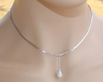Gold 18 k / / diamond pendant necklace / / gold 18 k - 750/1000