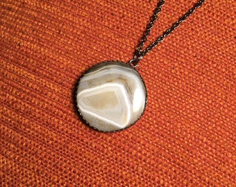 Brazilian Agate Pendant Necklace