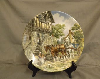 "wedgwood plate ""morning in the farmyard"""