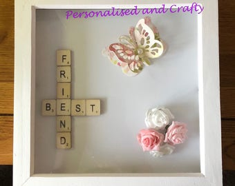 Best Friend Frame/Best Friend Gift Idea/Friend Gift/Gift Idea for Friend/Friend Butterfly Frame/Butterfly Gift