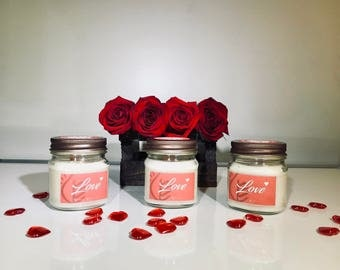 8oz Valentine's candle for your love ones