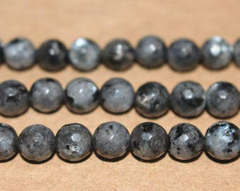 15 inches Full strand,128 Faceted black labradorite round beads 6mm 8mm 10mm 12mm,loose beads,semi-precious stone