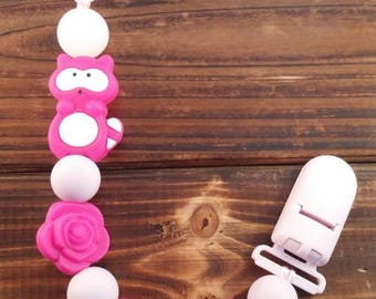 Firefly, soother, pacifier, raccoon, pacifier accessory baby, silicone, silicone beads beads