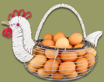 Beaded Chicken Egg Basket