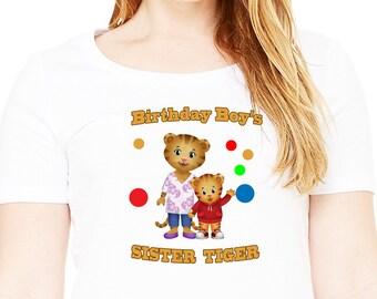 Daniel Tiger , Iron On Transfer , Daniel Tiger Sister , DIY Birthday Shirt , Transparent Background , Instant Download , Digital Files